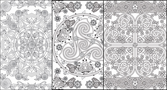 A Fantastic New Adult Colouring Book Published By Dover Publications This Titled Creative Haven Deluxe Edition Celtic Nature Designs